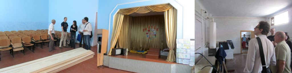 Inside the former western synagogue and mikveh