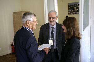 Mr. Vorobets and Marla chat with Dr. Sergei Kravtsov