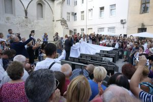 Lviv's Mayor Sodovyi and others unveil the Perpetuation Memorial