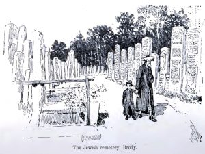 The Jewish cemetery of Brody, 1892