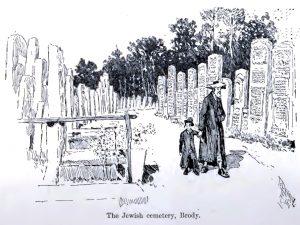 The Jewish cemetery of Brody, 1892