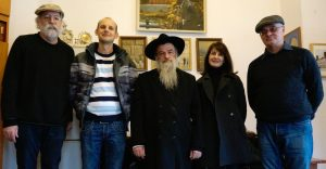 At the Ivano-Frankivsk synagogue office