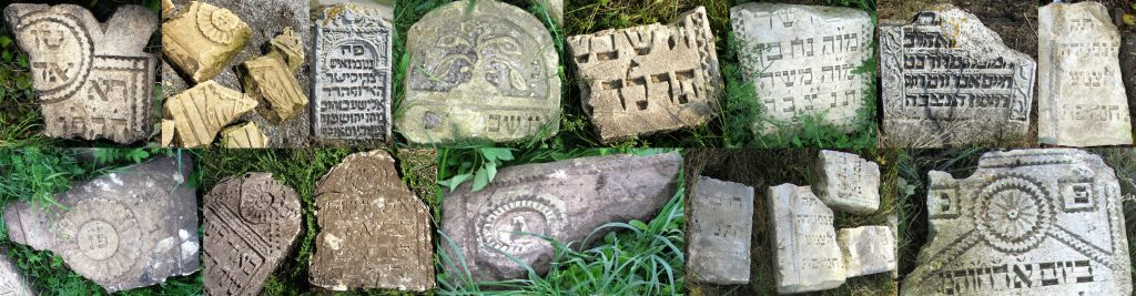 A small sample of the variety of decorative elements on Rohatyn matzevot