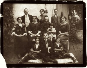 Studio portrait of a Jewish family in Drohobych, ca. 1910~1920