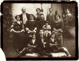 Studio portrait of a Jewish family in Drohobych, ca. 1910~1920