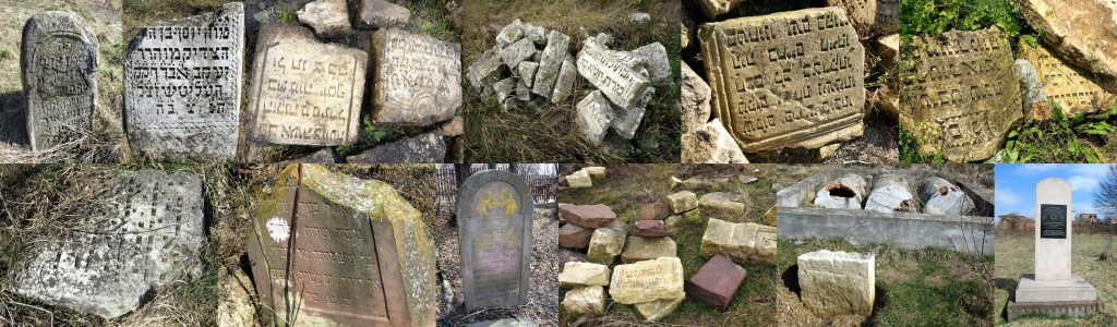 Some of the variety of materials used in matzevot in the Rohatyn Jewish cemeteries