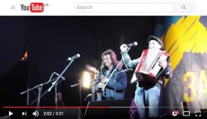"Jewish musicians ""Pushkin Klezmer Band"" perform at Euromaidan in Kiev"