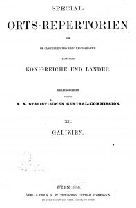 Title page of the 1880 census summary of Galicia