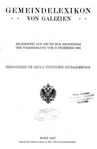 Title page of the 1900 census summary of Galicia
