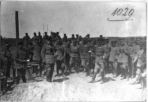 Offiziersgruppe, Gen.v.Böhm-Ermolli, Graf Bothmer, Eben, Hofmann, Leuthold, Djevad Pascha, Oppeln, Bardolf, Werz usw.