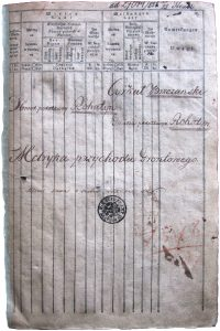 Title page of the 1820 cadastral survey of Rohatyn