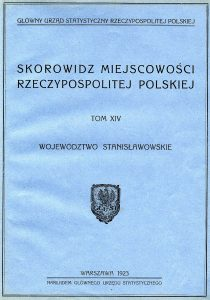 Title page of the 1921 Polish census summary of the Stanisławów voivodeship