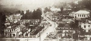 A bird's-eye view of the destruction of Rohatyn