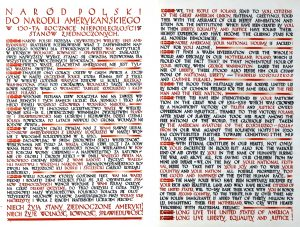 The declaration in Polish and English