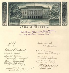 Signatures of the Cabinet of Ministers