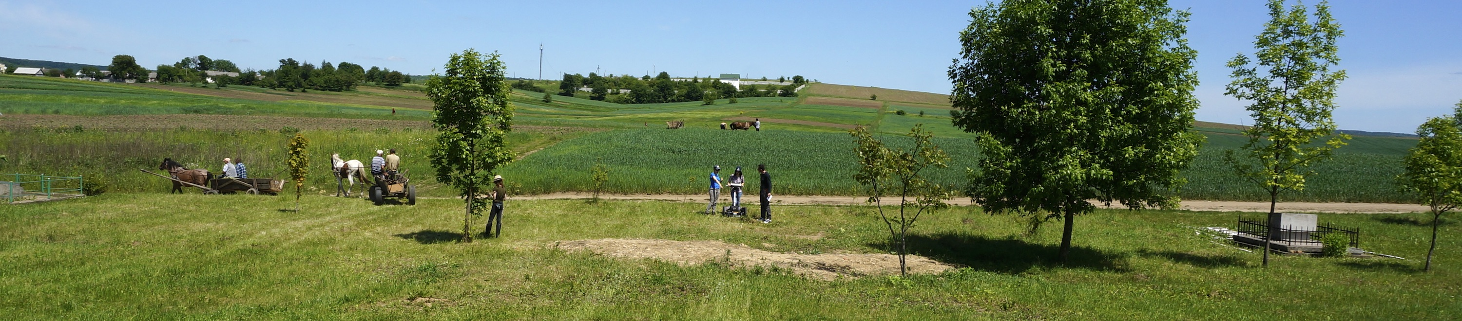 A panorama view at the south mass grave site during the 2017 survey