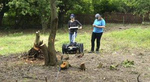 Archaeologists navigating obstacles at the new Jewish cemetery