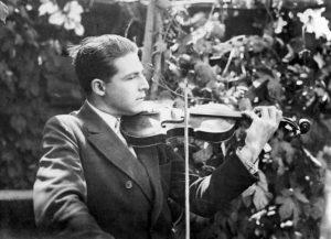 Yosef Blitz with his violin