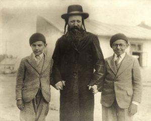 Rabbi Meyer Shmuel Henne poses in Rohatyn