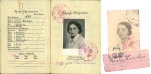 Passport images of the Horn sisters Jute and Bronia