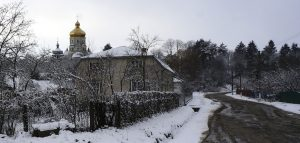 A view of Koniushky in winter
