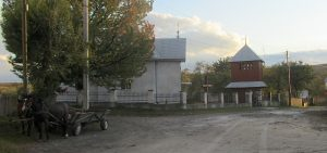 The village church and belfry in Perenivka