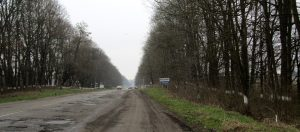 The main road into Rohatyn from the north