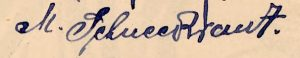 The signature of the student M. Schneekraut of Rohatyn