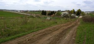 The road from Rohatyn center to the south mass grave