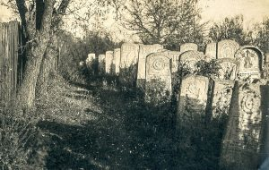 The old Jewish cemetery in Rohatyn, probably before the 1920s