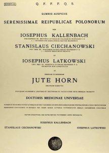 Jute Horn's medical diploma, 1928