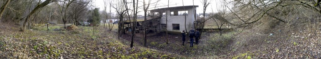 Panorama of the rear area of the vodokanal site