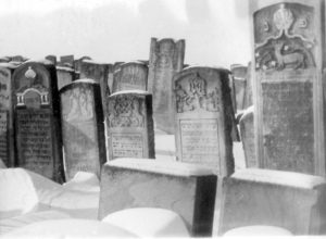 building materials gained from a Jewish cemetery in Lemberg