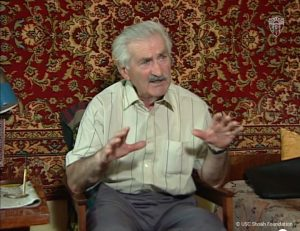 A still from the video interview with the late Boris Arsen in 1997