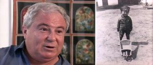 Two stills from the video interview of the late Avi Blitz in 1996