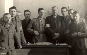 Rohatyn Judenrat members with armbands in autumn 1941