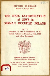 An exile Polish government report, including Raczyński's note