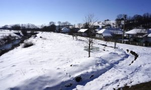 The village of Verkhnia Lypytsia