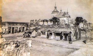 The Rohatyn town square, destroyed in WWI