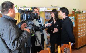 An interview for local Ukrainian TV