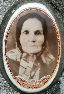 Portrait of Hanna Kvasnevska from her gravestone